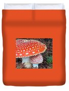 Amanita Muscaria - Red Mushroom Duvet Cover