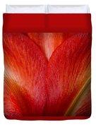 Amaryllis Flower Petals Duvet Cover