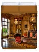 Amaryllis In The Castle, Belgium Duvet Cover