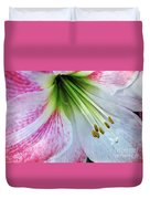 Amaryllis - Lily Duvet Cover