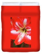 Amaryllis Red Duvet Cover