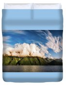 Amazing Cloud Formation At Lake Manapouri In New Zealand Duvet Cover