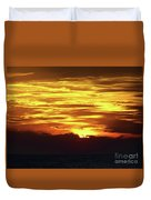 Amazing Fire In The Sky Duvet Cover