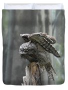 Amazing Frogmouth Bird With His Wings Extended Duvet Cover