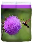 Amazing Insects - Hummingbird Moth Duvet Cover