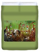 Amazing Jungle Of The Microcosm Duvet Cover