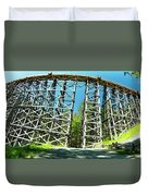 Amazing Kinsol Wooden Trestle Panorama View, Vancouver Island, Bc, Canada. Duvet Cover