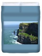 Amazing Look At The Sea Cliff's Of Moher In Ireland Duvet Cover