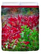 Amazing Nature Blessings Magic Colors Cherry Red Green Shrubs Plants Save  The Environment Duvet Cover