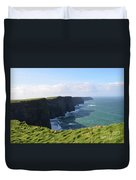 Amazing Scenic Views Of The Cliff's Of Moher Duvet Cover