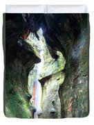 Amazing Vancouver Island Series - Sombrio Cave Waterfall  Inside  Closeup 2. Duvet Cover