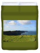 Amazing Views Of The Cliff's Of Moher In Ireland Duvet Cover