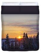Amazing Winter Sunrise Duvet Cover