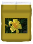 Amazing Yellow Lily Flowering In A Garden Duvet Cover