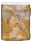 Amelie Dieterie In A White Hat Duvet Cover