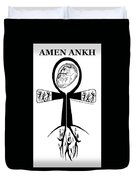 Amen Ankh Bw Duvet Cover