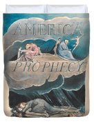 America. A Prophecy. Plate 2 Duvet Cover