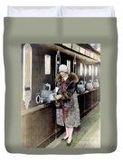 America: Automat, C1925 Duvet Cover