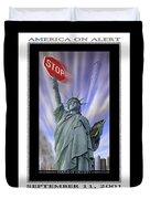 America On Alert II Duvet Cover