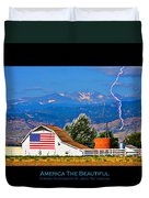 America The Beautiful Poster Duvet Cover
