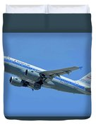 American Airbus A319-0112 N744p Piedmont Pacemaker Los Angeles International Airport May 3 20 Duvet Cover
