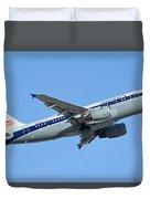 American Airbus A319-112 N745vj Allegheny Vistajet Phoenix Sky Harbor January 19 2016 Duvet Cover