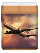 American Airlines 767 N345an Duvet Cover