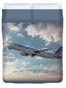 American Airlines A321-231 N917uy Duvet Cover
