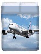 American Airlines Boeing 787 Dreamliner Duvet Cover