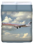 American Airlines Md-80 Duvet Cover