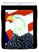 American Bald Eagle Painting #256 Duvet Cover