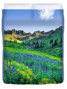American Basin In Bloom Duvet Cover