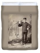 American Bicyclist, 1880s Duvet Cover