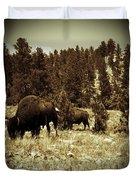 American Bison Vintage 2 Duvet Cover