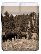 American Bison Vintage Duvet Cover