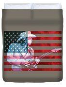 American Bluesman Stevie Ray Vaughan Duvet Cover