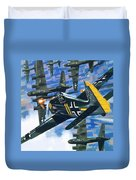 American Bombing Raid Over Europe In July 1943 Duvet Cover