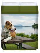 American Breed On Table Duvet Cover