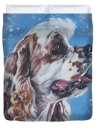 American Cocker Spaniel Duvet Cover by Lee Ann Shepard