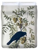 American Crow Duvet Cover by John James Audubon