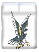 American Eagle Tattoo Duvet Cover
