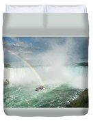 Horseshoe Waterfall At Niagara Falls Duvet Cover