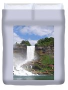 American Falls At Niagra Duvet Cover