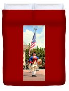 American Fife And Drum Corp Flag Carrier Duvet Cover