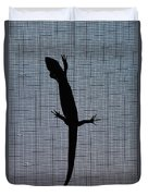 American Five-lined Skink Duvet Cover