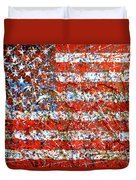 American Flag Abstract 2 With Trees  Duvet Cover