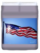 American Flag Fort Sumter Duvet Cover