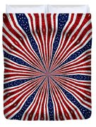 American Flag Kaleidoscope Abstract 6 Duvet Cover