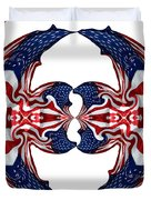 American Flag Polar Coordinate Abstract 1 Duvet Cover