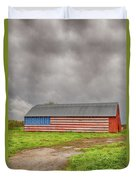 American Flag Proudly Displayed Duvet Cover
